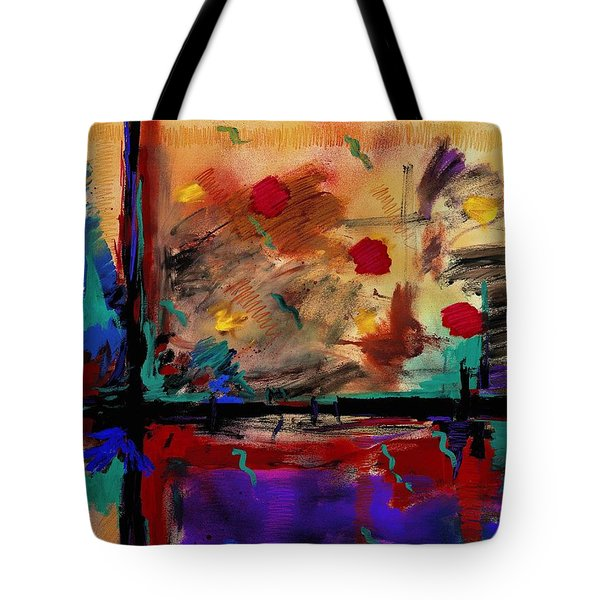 Abstract Yellow Horizontal Tote Bag