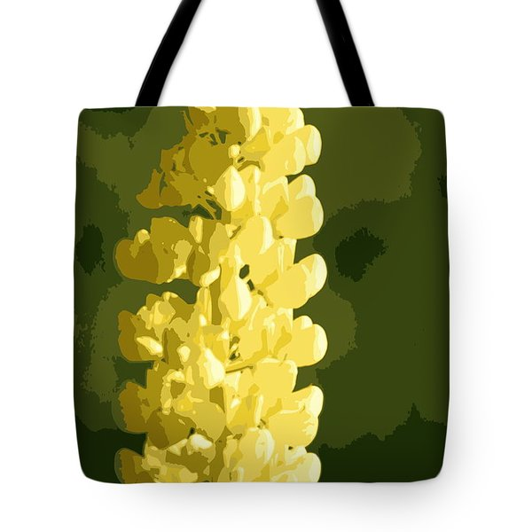 Tote Bag featuring the photograph Abstract Yellow Lupine by Kenny Glotfelty