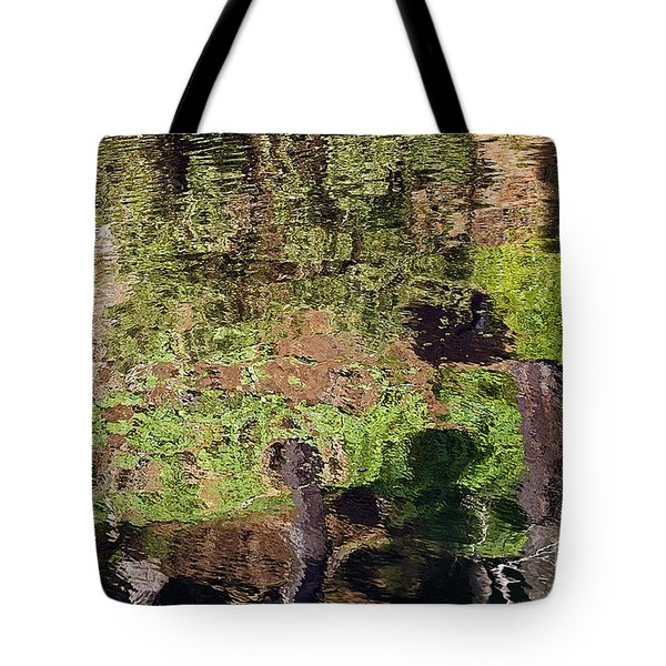 Tote Bag featuring the photograph Abstracted Reflection by Kate Brown