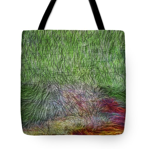 Abstraction Of Life Tote Bag by Deborah Benoit