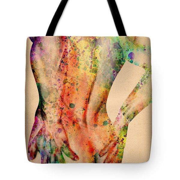 Abstractiv Body - 4 Tote Bag by Mark Ashkenazi