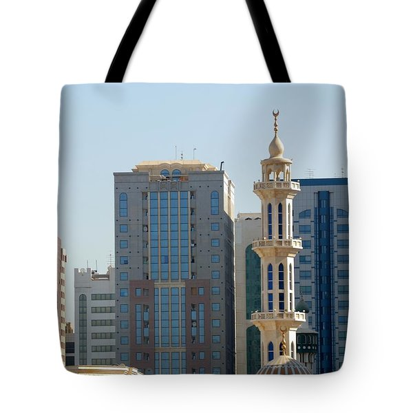 Tote Bag featuring the photograph Abu Dhabi City Center by Steven Richman