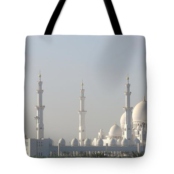 Tote Bag featuring the photograph Abu Dhabi Sheikh Zayed Grand Mosque by Steven Richman