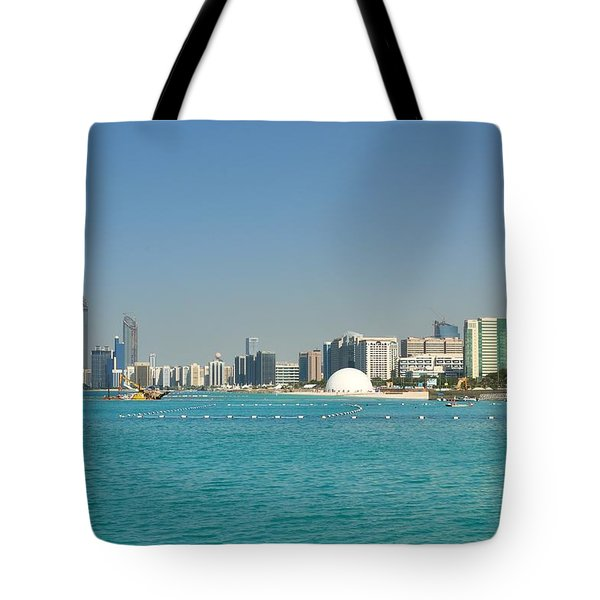 Tote Bag featuring the photograph Abu Dhabi Skyline by Steven Richman