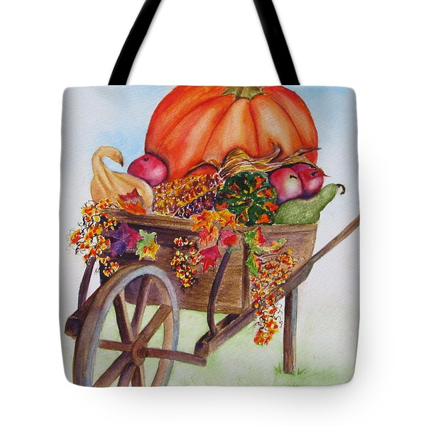 Tote Bag featuring the painting Abundance  by Diane DeSavoy