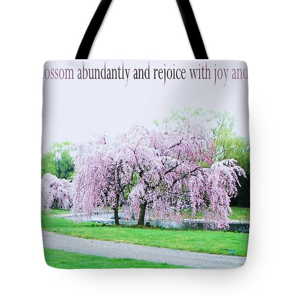 Tote Bag featuring the photograph Abundant Blossom by Pamela Hyde Wilson