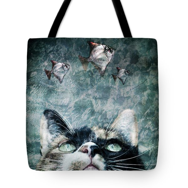 Abyss Cat Nr 2 Tote Bag by Laura Melis