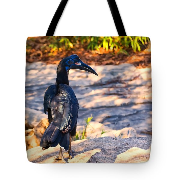 Abyssinian Ground Hornbill Tote Bag by Chris Flees