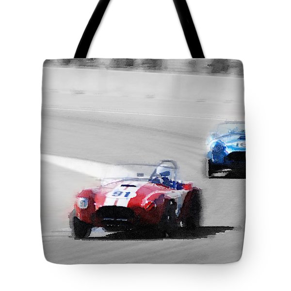Ac Cobra Racing Monterey Watercolor Tote Bag