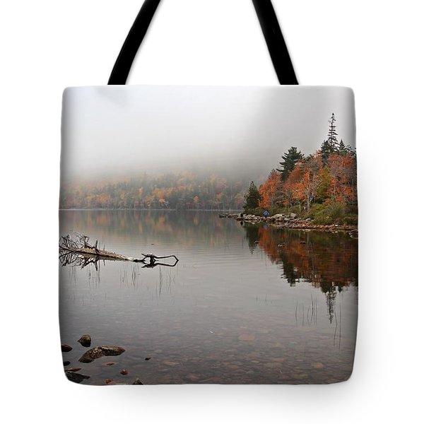 Acadia In The Fog Tote Bag