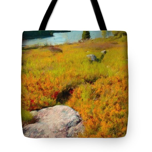 Tote Bag featuring the painting Acadia Spring by Jeff Kolker