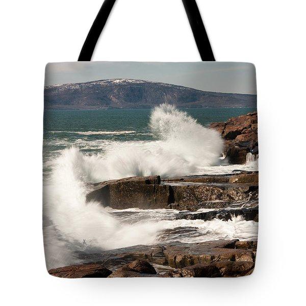 Acadia Waves 4198 Tote Bag by Brent L Ander