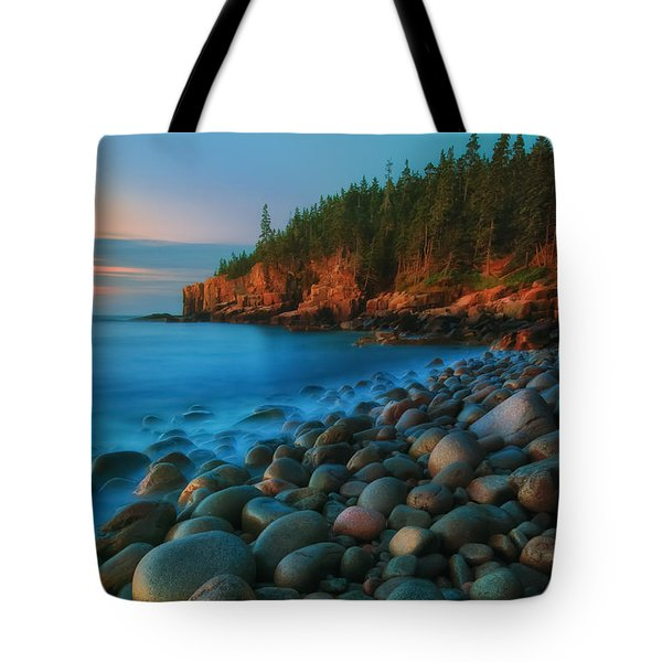 Acadian Dawn - Otter Cliffs Tote Bag