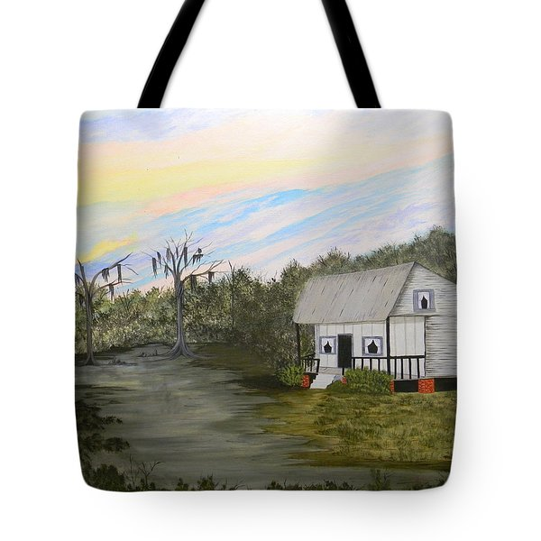 Acadian Home On The Bayou Tote Bag