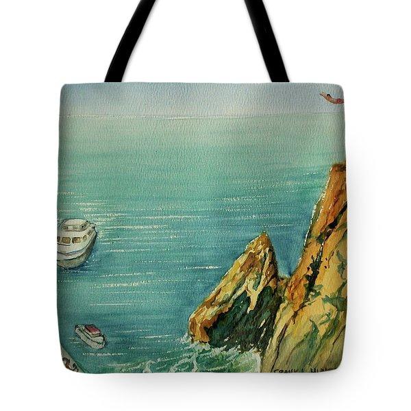 Acapulco Cliff Diver Tote Bag