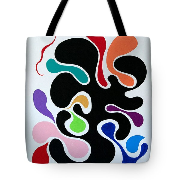 Tote Bag featuring the painting Accepting by Thomas Gronowski