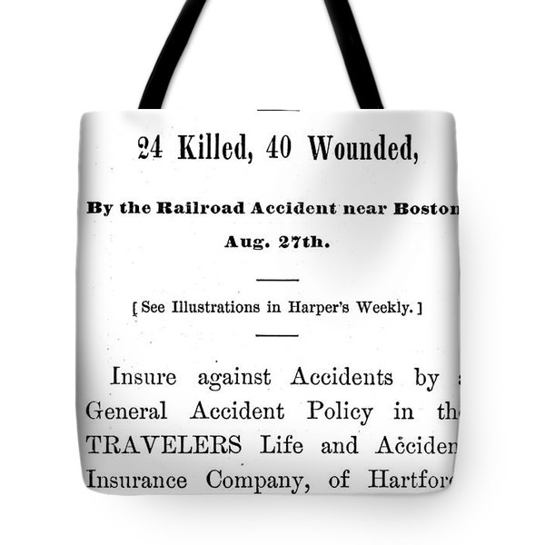 Accident Insurance, 1871 Tote Bag