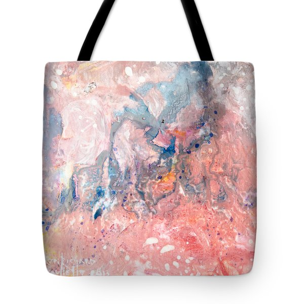 Tote Bag featuring the painting Acclivity by Ron Richard Baviello