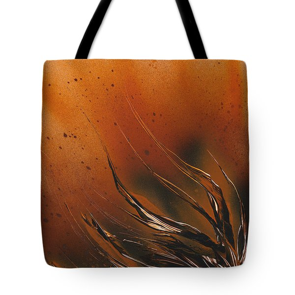 Tote Bag featuring the painting Accumulation Plant by Jason Girard