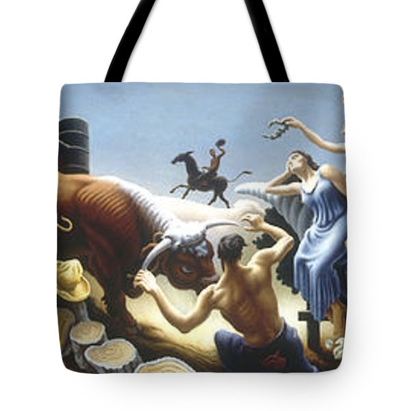 Achelous And Hercules Tote Bag