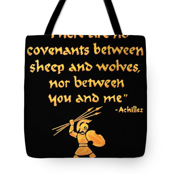 Achilles Admonition Tote Bag