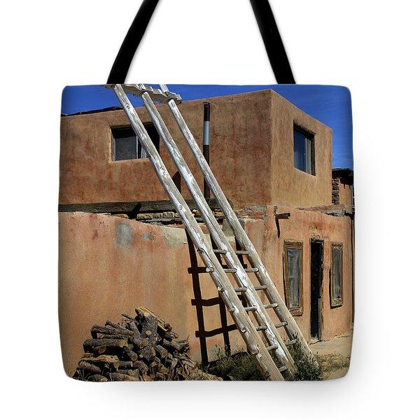 Acoma Pueblo Adobe Homes 3 Tote Bag by Mike McGlothlen