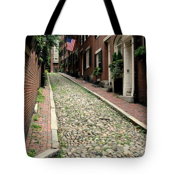 Tote Bag featuring the photograph Acorn Street Boston by Kenny Glotfelty