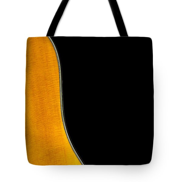 Acoustic Curve In Black Tote Bag by Bob Orsillo