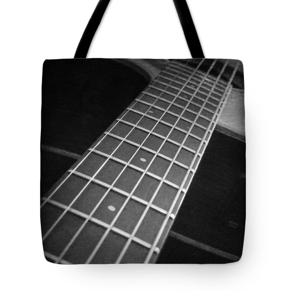 Acoustic Guitar Tote Bag by Andrea Anderegg