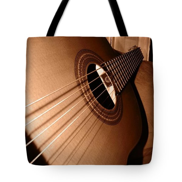 Tote Bag featuring the photograph Acoustic Guitar by Ester  Rogers