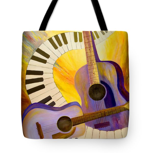 Acoustics In Space Tote Bag by Larry Martin