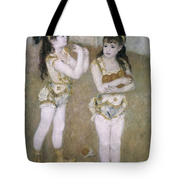Acrobats At The Cirque Fernand Tote Bag by Pierre Auguste Renoir