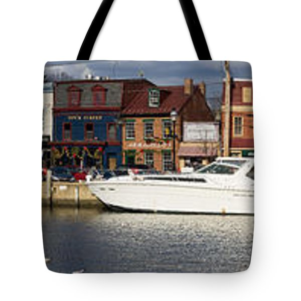Across Ego Alley Panorama Tote Bag by Benjamin Reed