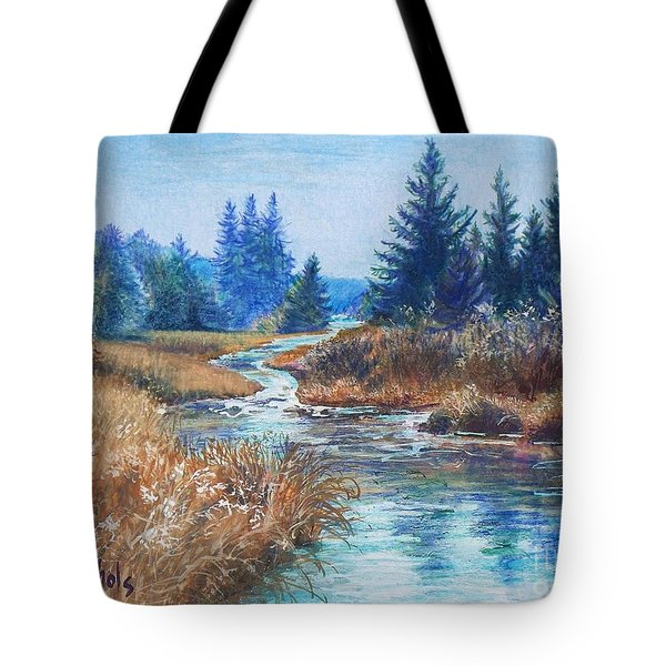 Across The Brook Tote Bag