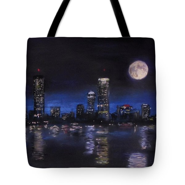 Across The Charles At Night Tote Bag by Jack Skinner