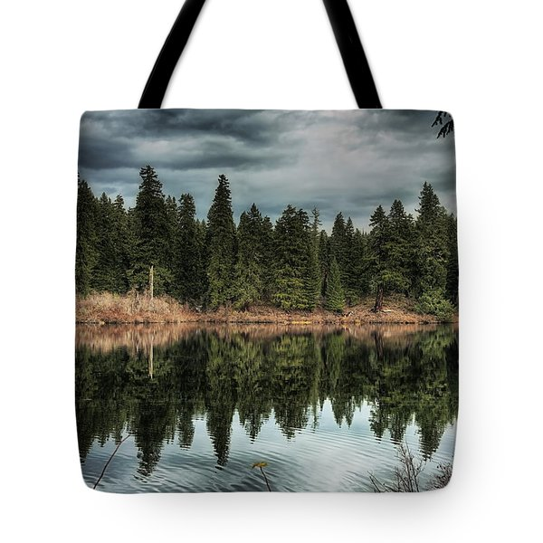 Across The Lake Tote Bag by Belinda Greb