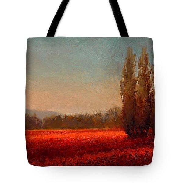 Across The Tulip Field - Horizontal Landscape Tote Bag