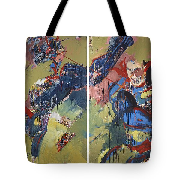 Action Abstraction No. 20 Tote Bag by David Leblanc