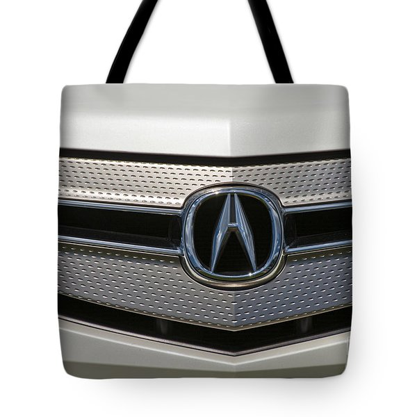 Acura Grill Emblem Close Up Tote Bag