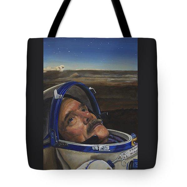 Ad Astra - Col. Chris Hadfield Tote Bag by Simon Kregar