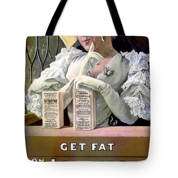 Ad For Patent Medicines 1895 Tote Bag by Science Source