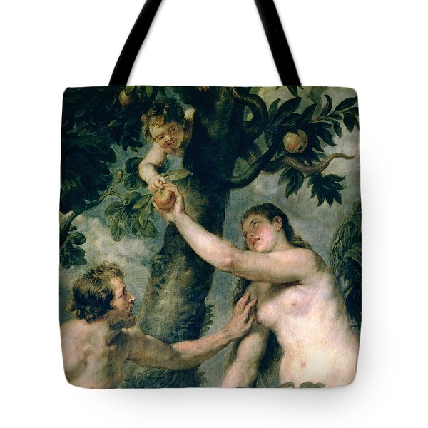 Adam And Eve Tote Bag by Rubens
