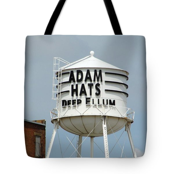Tote Bag featuring the photograph Adam Hats In Deep Ellum by Charlie and Norma Brock