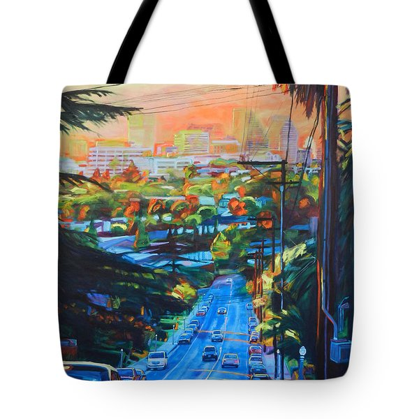Towards The Light Tote Bag by Bonnie Lambert