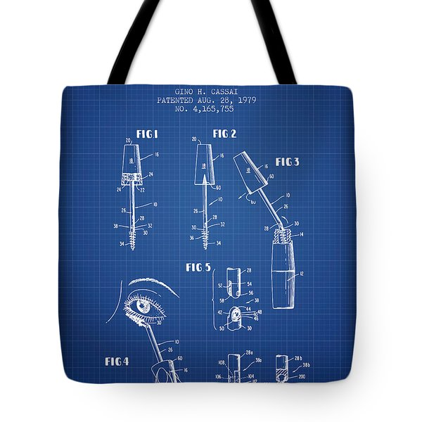 Mascara tote bags fine art america adjustable mascara wand patent from 1979 blueprint tote bag malvernweather Images