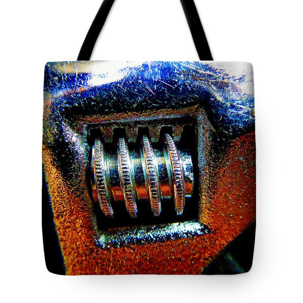 Adjustable Wrench E Tote Bag