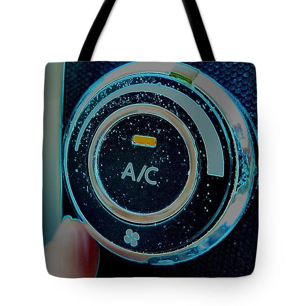 Adjusting The Air Conditioning Tote Bag by Renee Trenholm
