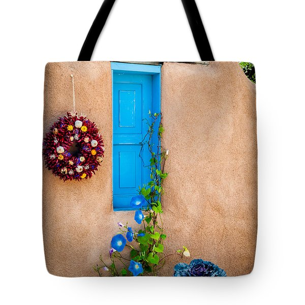 Adobe And Blue Tote Bag