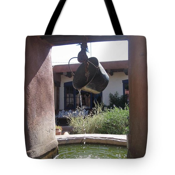 Tote Bag featuring the photograph Adobe Water Well In New Mexico by Dora Sofia Caputo Photographic Art and Design