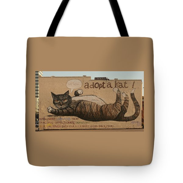 Adopt A Kat Or Me Now Tote Bag by Blue Sky